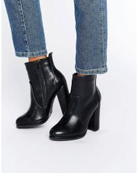 Blink High Block Heeled Boots - Black