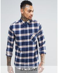 Brooklyn Supply Co. - Check Flannel Regular Fit Shirt - Lyst