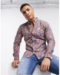 Pretty Green All Over Paisley Print Shirt - Multicolour