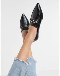 Miss Selfridge Loafers With Pointed Toe - Black