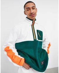 Tommy Hilfiger Timeless - Sweatshirt Van Polarfleece Met Halve Rits - Wit