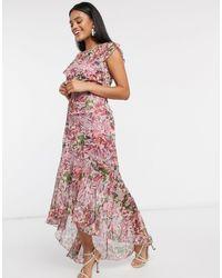 Little Mistress Платье Макси С Юбкой Годе И Цветочным Принтом -мульти - Многоцветный