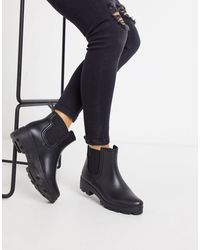 London Rebel Chunky Chelsea Welly - Black