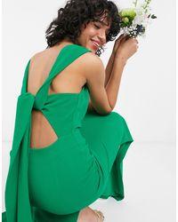Whistles Зеленое Платье Макси С Поясом На Спине -зеленый