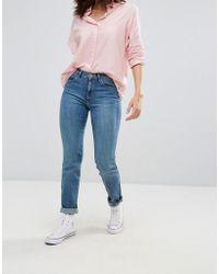 Wrangler High Waist Slim Cut Jeans - Blue