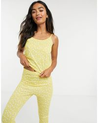 In The Style Желтая Пижама В Горошек Из Топа И Брюк X Jac Jossa-мульти - Многоцветный