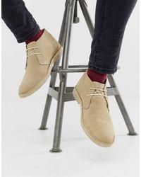 ASOS Chukka desert boots grigio pietra scamosciato - Neutro