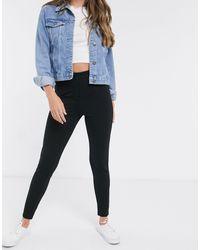 Pieces Klara High Waisted Skinny jegging Jeans - Black