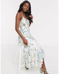 Never Fully Dressed Платье Миди На Бретельках С Оборкой И Цветочным Принтом -мульти - Многоцветный