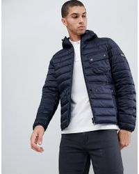 Barbour - Ouston Hooded Padded Jacket In Navy - Lyst