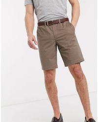 Ted Baker Pantalones chinos cortos en tostado - Multicolor
