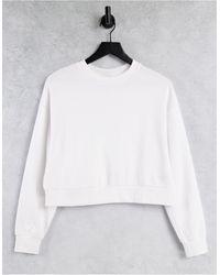 ASOS Sweat-shirt court - Blanc