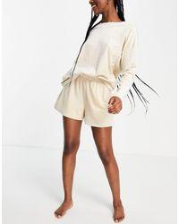 Vero Moda Velour Pyjama Set - White