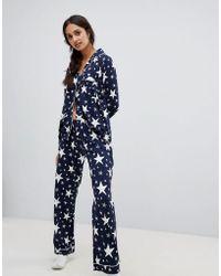 Chelsea Peers - Sparkle Star Print Pyjama Set - Lyst