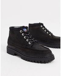 Tommy Hilfiger Черные Замшевые Ботинки С Логотипом -черный