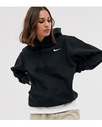 Nike Black Mini Swoosh Oversized Hoodie
