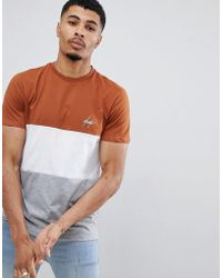 New Look - T-shirt With Atlanta Print In Brown - Lyst