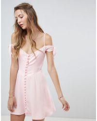 Flynn Skye - Button Front Mini Dress - Lyst