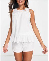 Lauren by Ralph Lauren Short Set - White
