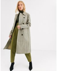 SELECTED Lange Trenchcoat - Grijs