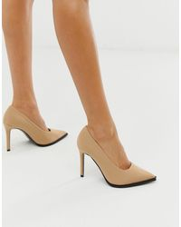ASOS Powerful High Heeled Court Shoes - Natural