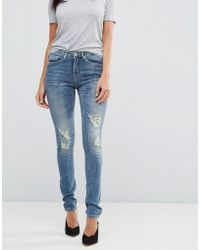 Blend She - Casual Stacey Straight Ripped Jeans - Lyst