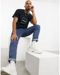 Huf - Camiseta básica con logo en recuadro en negro - Lyst