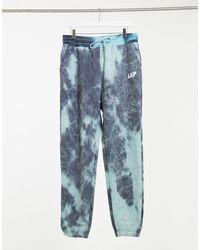 Liquor N Poker Co-ord Tie Dye joggers - Blue