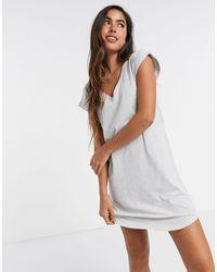 Lindex Серая Ночная Рубашка В Стиле Oversized Из Органического Хлопка -серый