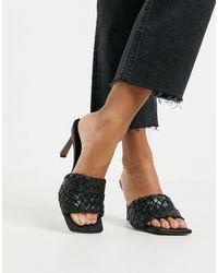 ASOS Hattie Mid-heeled Mule Sandals - Black