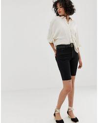 Pull&Bear Denim legging Short - Black