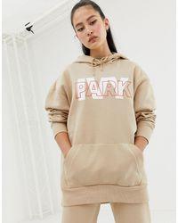 Ivy Park Sudadera con capucha en beis con logo a capas - Neutro