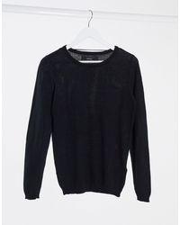 Vero Moda – er Pullover mit Rundhalsausschnitt - Schwarz