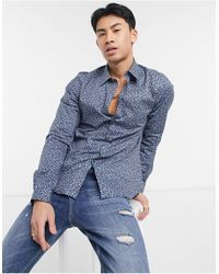 Paul Smith Tailored Long Sleeve Shirt - Blue