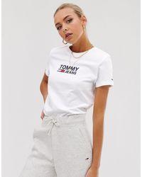 Tommy Hilfiger Corporate - T-shirt avec logo - Blanc