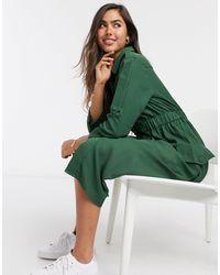 Y.A.S Зеленое Платье-рубашка На Пуговицах .-зеленый