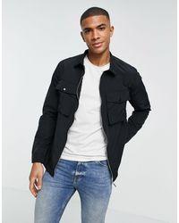 Another Influence Nylon Full Zip Overshirt - Black