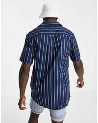 Tommy Hilfiger - Рубашка С Принтом В Полоску -темно-синий - Lyst