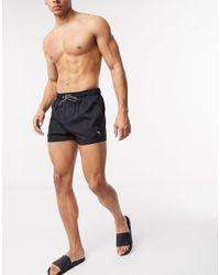 PUMA Short Length Swim Shorts - Black
