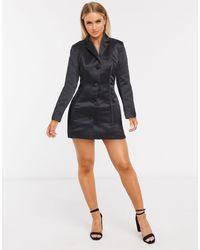 ASOS Corset Detailed Satin Jacket - Black