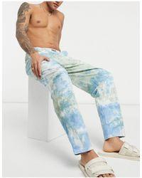 ASOS Pantalon confort effet tie-dye - Bleu