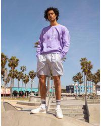 adidas Originals Сиреневый Oversized-свитшот С Графическим Рисунком 'summer Club'-фиолетовый Цвет - Пурпурный