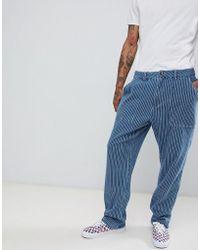 FairPlay - High Waist Worker Pant In Blue Stripe - Lyst