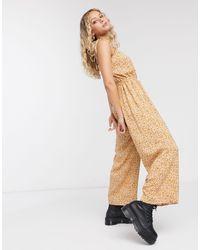 Reclaimed (vintage) Inspired Cami Jumpsuit - Natural