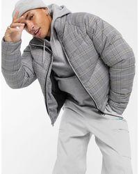 ASOS Cropped Puffer Jacket - Grey
