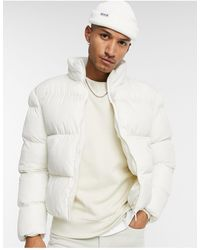 ASOS Sustainable Cropped Puffer Jacket - White