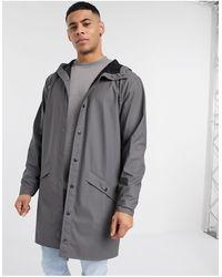 Rains Темно-серая Куртка С Капюшоном -серый
