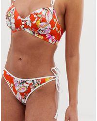 Freya Wild Flower Tie Side Bikini Bottom - Multicolor