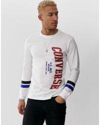 T-shirt a manica lunga Converse da uomo - Fino al 63% di sconto ...
