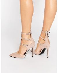 Kendall + Kylie Kendall & Kylie Alisha Nude Suede Caged Pointed Court Shoes - Natural